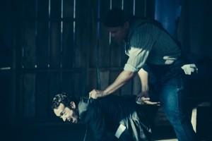 "Steve McCarthy as ""Cain"" and Brandon Oakes as ""Clem"". Photo by Juan Camilo Palacio"